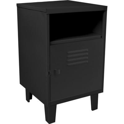 Velador 1 puerta 40x40x66 cm negro