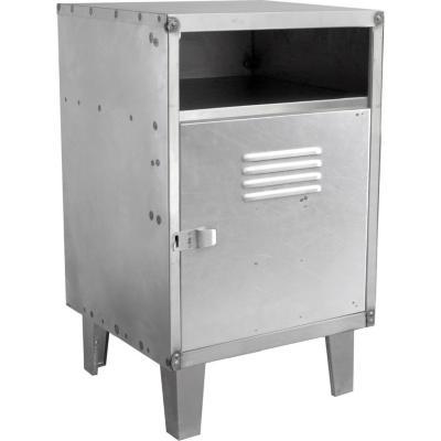 Velador 1 puerta 40x40x66 cm acero