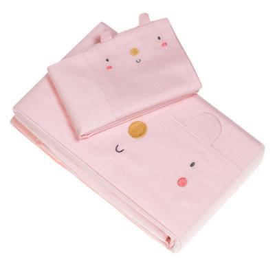 Set sábanas bebé 144 hilos rosada cuna