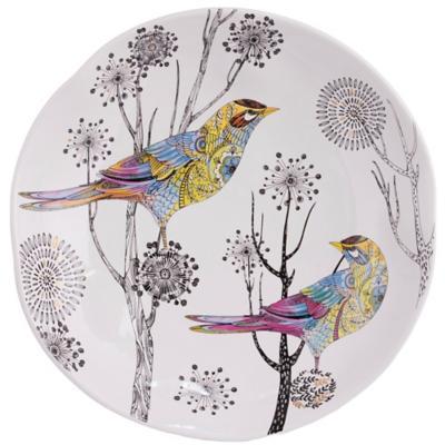 Plato Decorativo Pájaros 38x38 cm