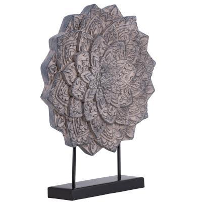 Mandala Gris Con Base 58 cm