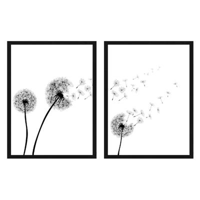 Set 2 cuadros 40x50cm blanco y negro