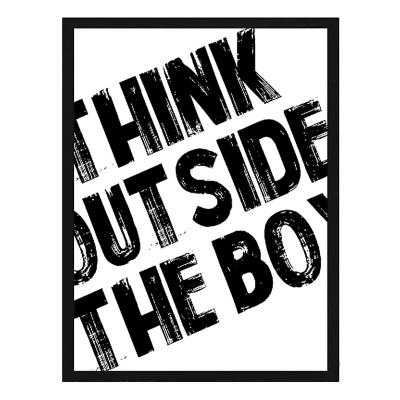 Cuadro frase think outside 40x50cm marco negro
