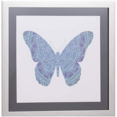 Cuadro mariposas celeste 50x50 cm