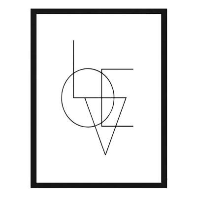 Cuadro frase love 40x50cm marco negro