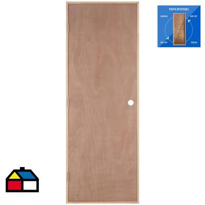 Puerta Terciado precolgada Dual 70 x 200 cm