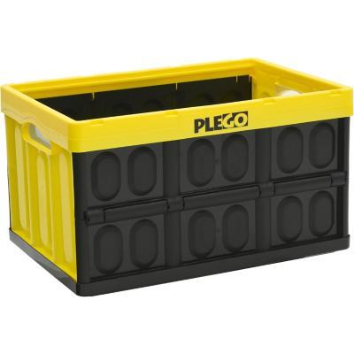 Caja plegable 45 litros amarillo sin tapa