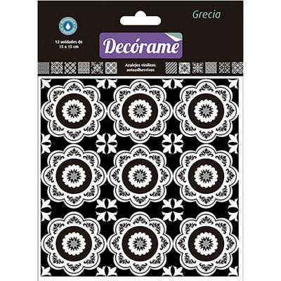 Sticker decorativo Grecia 15x15 cm 12 unidades