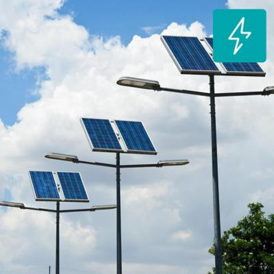 Kit poste solar 6 m 30W led 12 horas zona norte DS-43