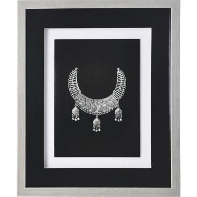 Cuadro joya plata negro 37,5x44,5x3 cm