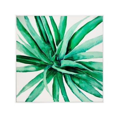 Cuadro en tela con diseño botánico