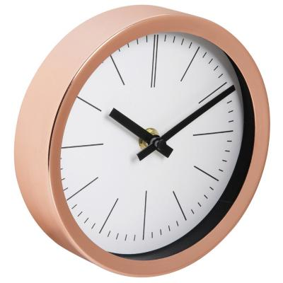 Reloj pared metal cobrizo 15 cm