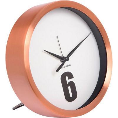 Reloj metal cobrizo 15 cm