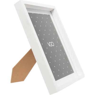 Marco madera box blanco 15x20 cm