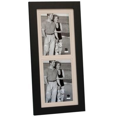 Marco madera negro 2 fotos 13x18 cm