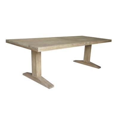 Mesa madera de teca 76x240x100 cm