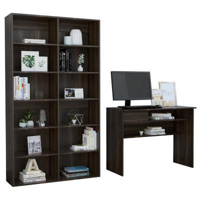 Set escritorio + estante habano