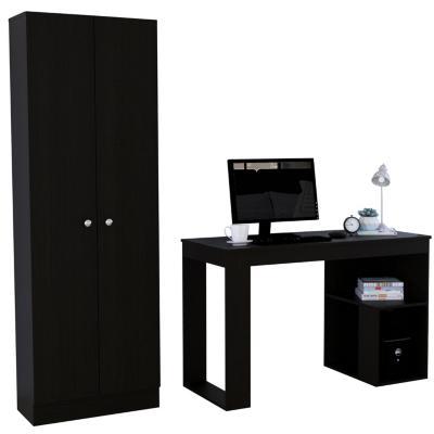 Set escritorio + clóset wengue