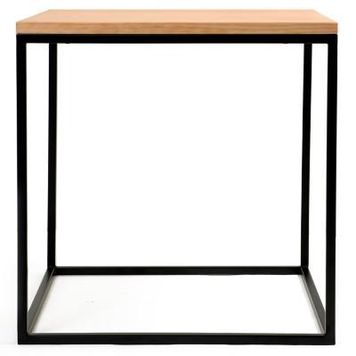 Mesa cubo 50x50 cm madera pino cerezo