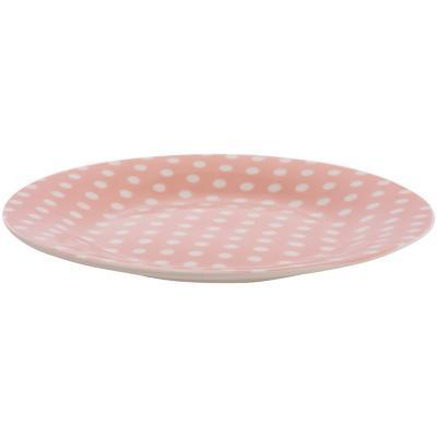 Plato ensalada puntos rosado