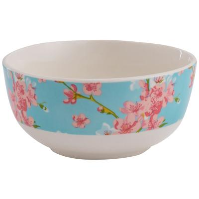 Bowl floral turquesa