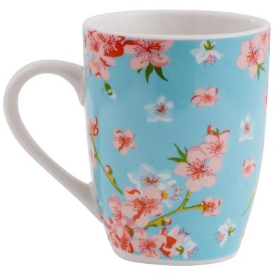 Tazón floral turquesa
