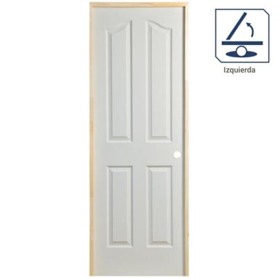 Puerta Lista HDF Kiyen Precolgada apertura izquierda 75 x 200cm