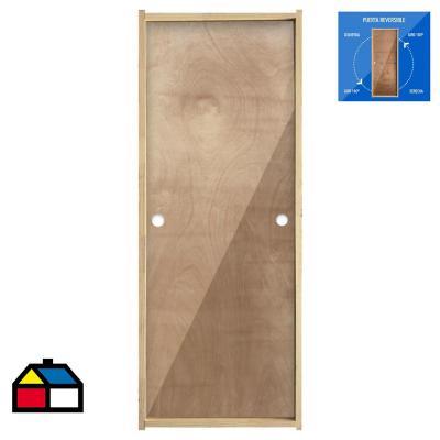 Puerta Terciado Precolgada Dual  75 x 200cm