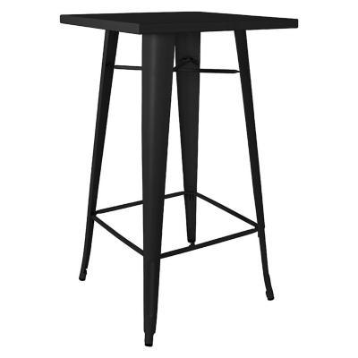 Mesa tipo bar tolix 60x60 cm negra
