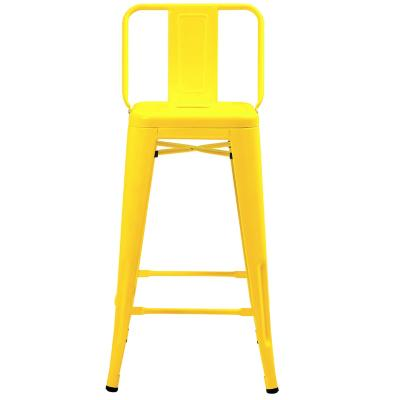 Piso tolix respaldo bajo amarillo 66x32 cm