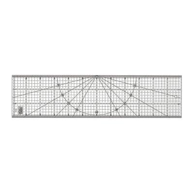 Regla Acrílica Transparente de 15 x 60cm
