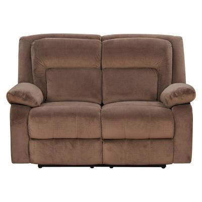 Sofá reclinable 2 cuerpos 150x89x85 cm café