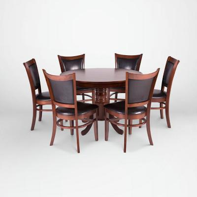 Juego de comedor 6 sillas 106x106 Chocolate