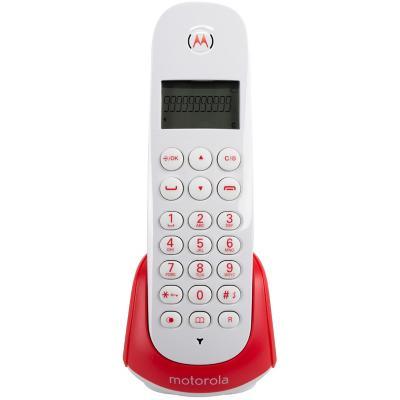 Teléfono inalámbrico digital rojo