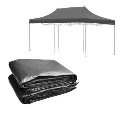 Lona techo para toldo negro 3x6 m