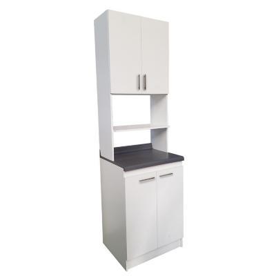 Mueble blanco para microondas 60x60x185 cm