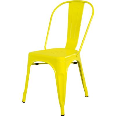 Silla metal 39x36x86 cm amarillo