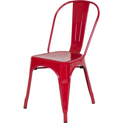 Silla metal 39x36x86 cm rojo