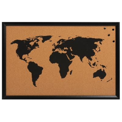Pizarra de corcho mapa 40x60x2 cm
