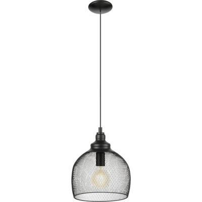 Lámpara de colgar Metal Straiton Negro