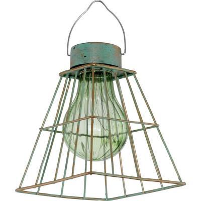 Lámpara de colgar Vintage solar 0,12W led verde