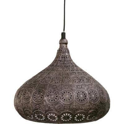 Lámpara de colgar Melilla 285 cm 60W E27 plata envejecida