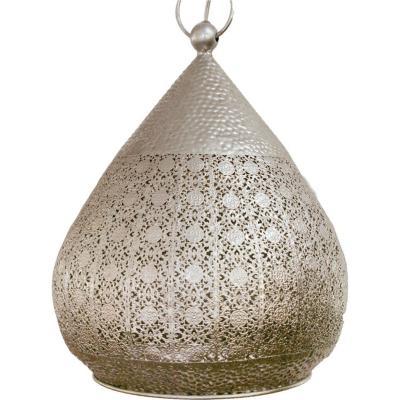 Lámpara de colgar Melilla 330 cm 60W E27 plateado