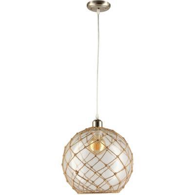 Lámpara de colgar Vidrio y metal Lecce Transparente