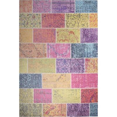 Alfombra kolor brickwall 160x230 cm multicolor