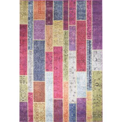 Bajada de cama kolor wooden60x120 cm multicolor