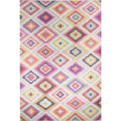 Alfombra kolor rhombus 133x190 cm multicolor