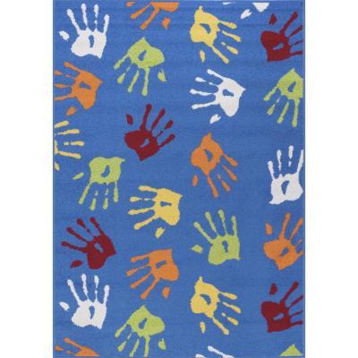 Bajada de cama katrina manos 80x120 cm azul