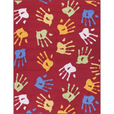 Bajada de cama katrina manos 80x120 cm rojo