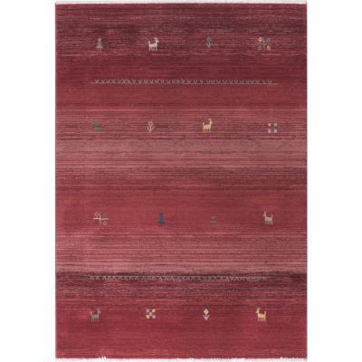 Alfombra kahla II 75x240 cm rojo
